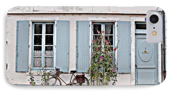 IPhone Case featuring the photograph Lonely Bicycle... by Cendrine Marrouat