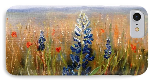 Lonely Bluebonnet IPhone Case by Patti Gordon