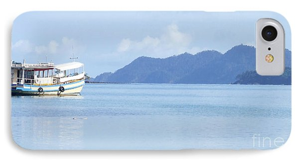 Lonely Boat IPhone Case by Andrea Anderegg