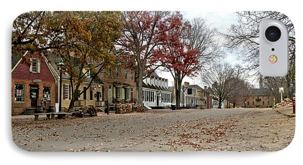 Lonely Colonial Williamsburg Phone Case by Olivier Le Queinec