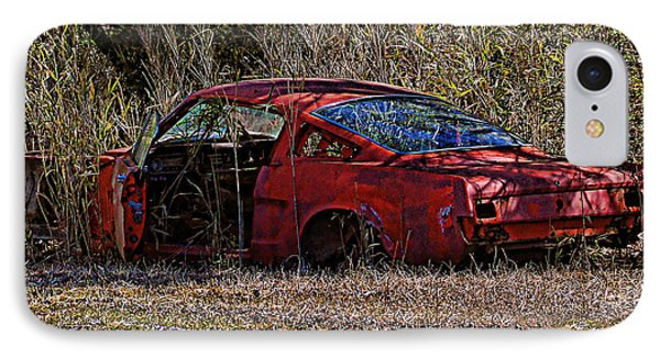 IPhone Case featuring the photograph Lonely Fastback by Victor Montgomery
