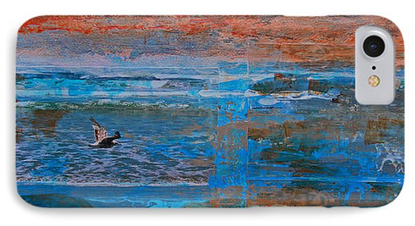 Lonely Flyer Right Panel Of Morro Bay Panorama IPhone Case by Walter Fahmy