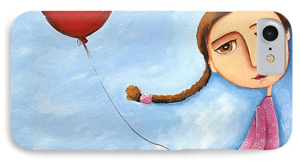Lonely Girl IPhone Case by Lucia Stewart