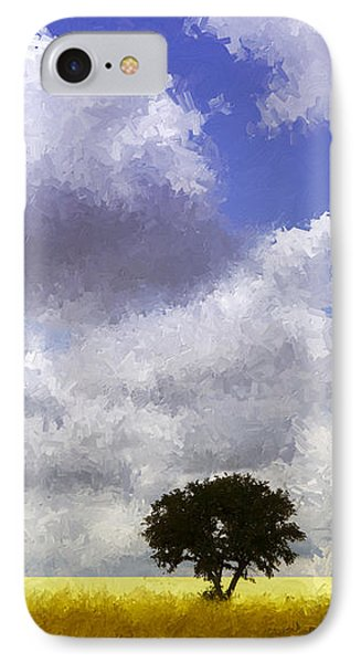 Lonely On The Prairie Phone Case by Ann Powell