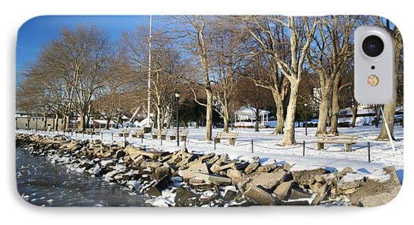 Lonely Park IPhone Case by Karen Silvestri