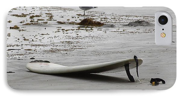 Lonely Surfboard Lg IPhone Case by Chris Thomas
