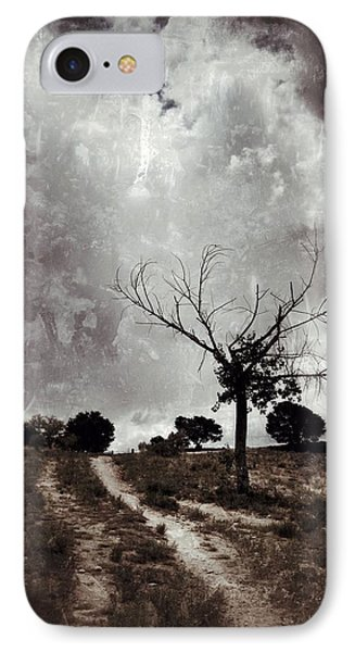 Lonely Tree IPhone Case by Mark David Gerson