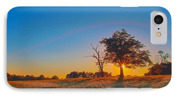 IPhone Case featuring the photograph Lonely Tree On Farmland At Sunset by Alex Grichenko