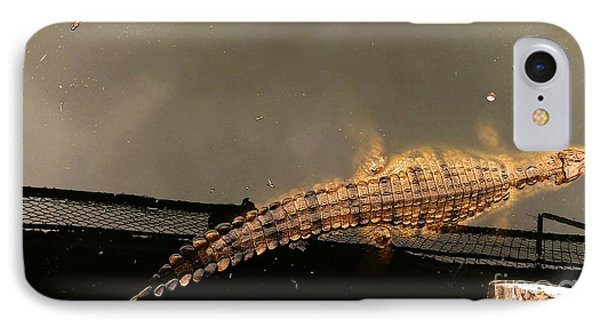 Lonesome Crocodile IPhone Case by Lisa Byrne