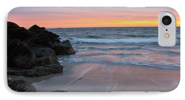 Long Beach By The Rocks IPhone Case