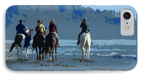 Long Beach Horses Study IPhone Case