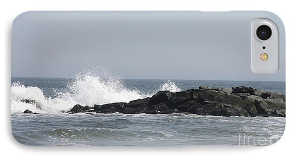 IPhone Case featuring the photograph Long Beach Jetty by John Telfer