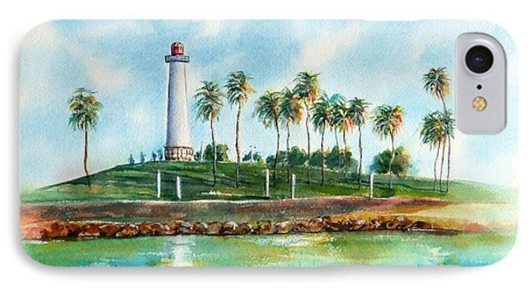 Long Beach Lighthouse  Version 2 IPhone Case by Debbie Lewis