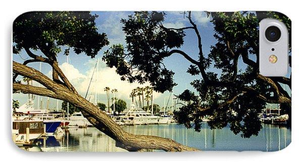 Long Beach Marina IPhone Case