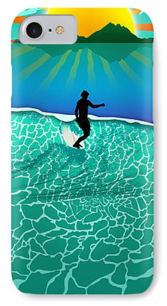 Long Board IPhone Case by Ryan Burton