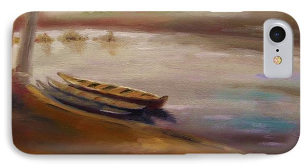 Long Boats At The Crossing IPhone Case by John Williams