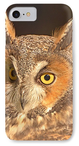 Long-eared Owl Phone Case by Nancy Landry