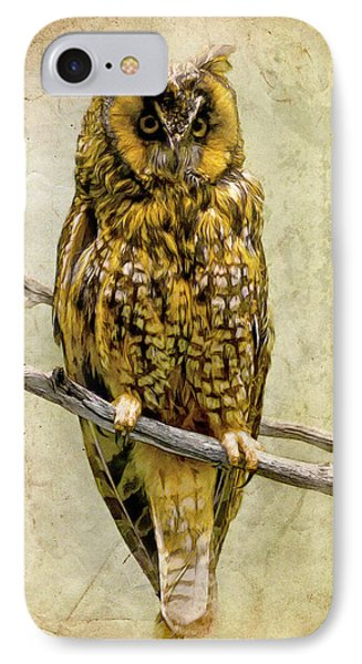 Long Eared Owl Phone Case by Ray Downing