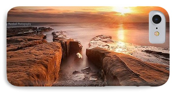 iPhone 7 Case - Long Exposure Sunset At A Rocky Reef In by Larry Marshall
