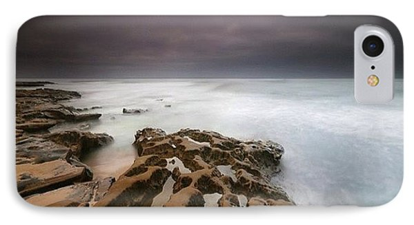 iPhone 7 Case - Long Exposure Sunset On A Dark Stormy by Larry Marshall