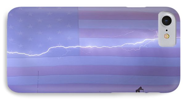 Long Lightning Bolt Across American Oil Well Country Sky IPhone Case by James BO  Insogna