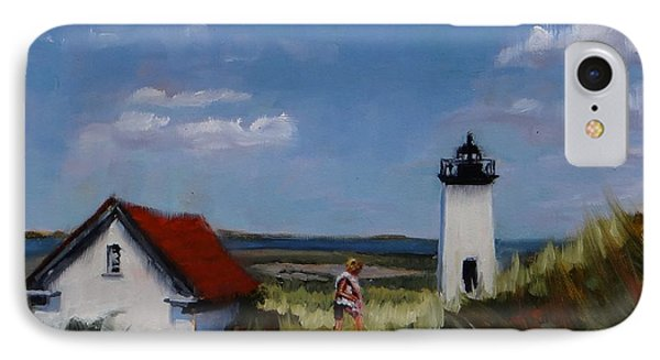 Long Point Lighthouse IPhone Case by Laura Lee Zanghetti