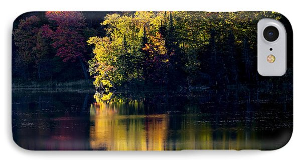 Long Pond Autumn Reflections IPhone Case by Alan L Graham