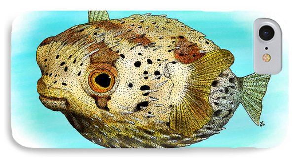 Long-spine Porcupine Fish IPhone Case