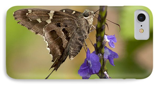 IPhone Case featuring the photograph Long-tailed Skipper Photo by Meg Rousher