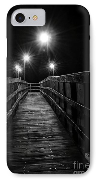IPhone Case featuring the photograph Long Walk On A Short Pier by Terry Garvin