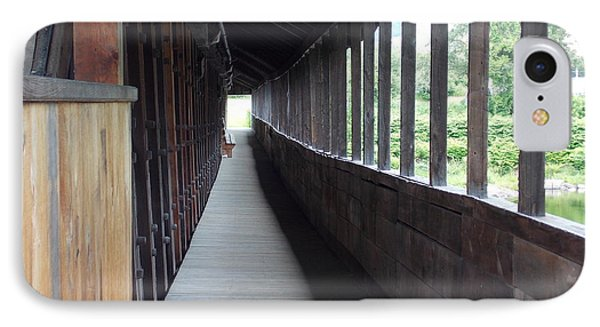 Long Walkway In Covered Bridge IPhone Case by Catherine Gagne