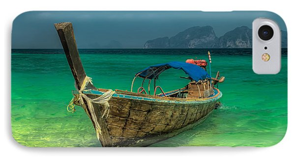 Boat iPhone 7 Case - Longboat by Adrian Evans