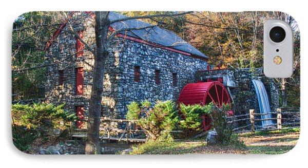 Longfellow's Wayside Inn Grist Mill In Autumn Phone Case by Jeff Folger