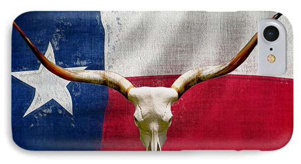 Longhorn Of Texas 2 IPhone Case by Jack Zulli