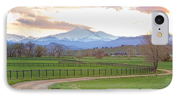 Longs Peak Springtime Sunset View  Phone Case by James BO  Insogna