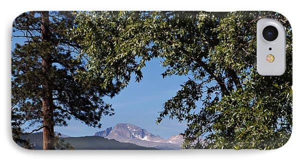 Longs Peak Through The Trees Phone Case by Kay Pickens