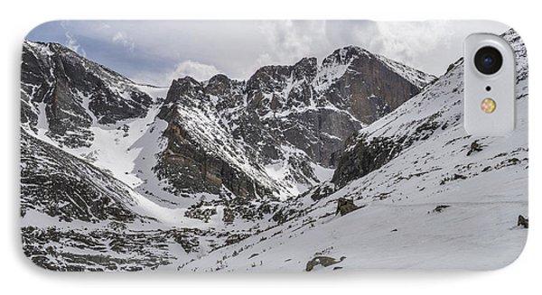 Longs Peak Winter Phone Case by Aaron Spong