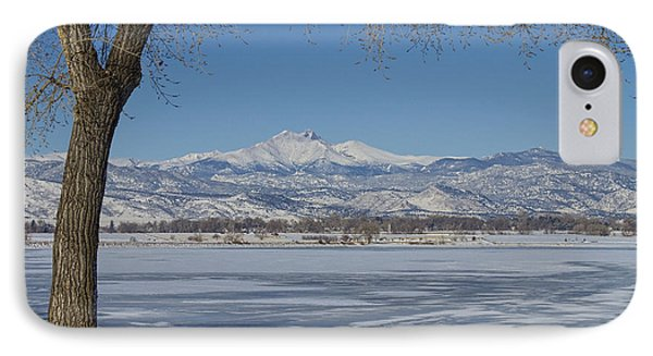 Longs Peaks Winter Landscape View Phone Case by James BO  Insogna