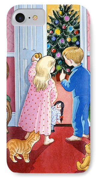 Look At The Christmas Tree Phone Case by Lavinia Hamer