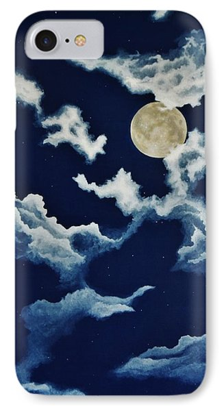 Look At The Moon IPhone Case