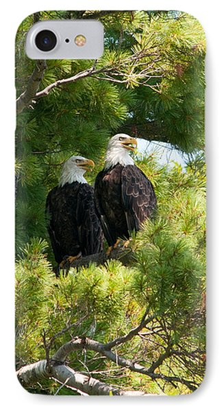 IPhone Case featuring the photograph Look Over There by Brenda Jacobs
