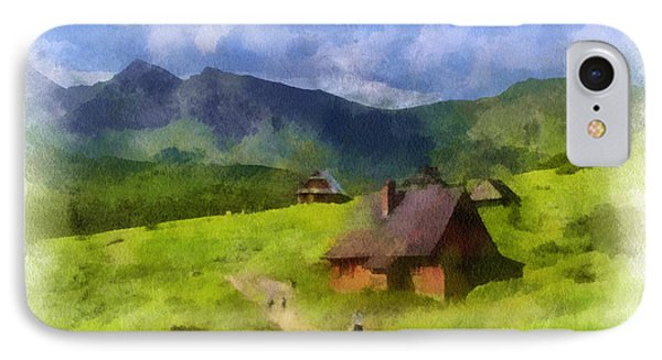 Look To The Hills IPhone Case by Barbara R MacPhail