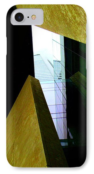 Look Up Mint Uptown IPhone Case by Randall Weidner