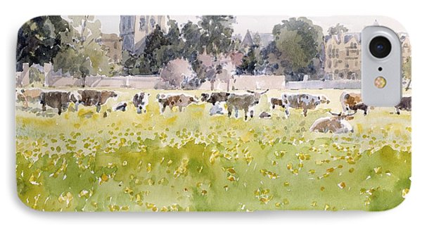 Looking Across Christ Church Meadows IPhone Case by Lucy Willis
