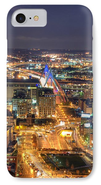 Looking Down -  Boston Skyline Aerial IPhone Case by Joann Vitali