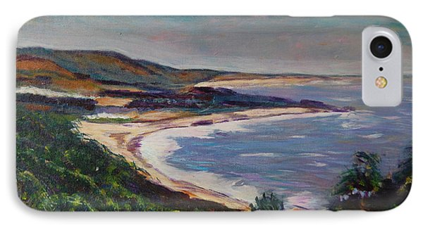 Looking Down On Half Moon Bay Phone Case by Carolyn Donnell