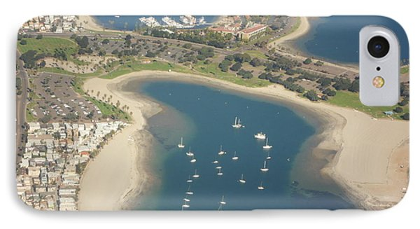 Looking Down On San Diego IPhone Case by Val Oconnor