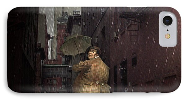 IPhone Case featuring the digital art Looking For Broadway by Kathleen Holley