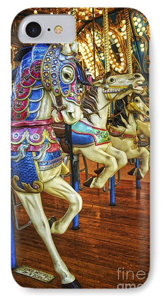 IPhone Case featuring the photograph Dancing Horses by Debra Fedchin