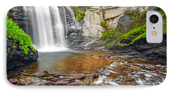 Looking Glass Falls IPhone Case by Marion Johnson